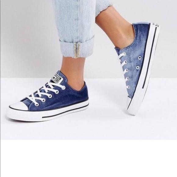 Duque Desconexión erosión  Converse Shoes | Blue Velvet Ox Low Top Converse All Stars Size 7 | Poshmark